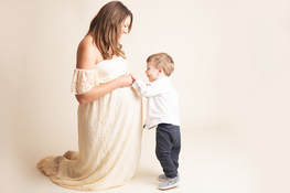 Maternity with Son Studio Posed